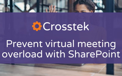 Prevent virtual meeting overload with SharePoint